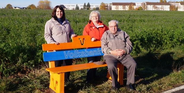 Volksbank am Radweg am Ortsausgang Seelingstädt Richtung Werdau
